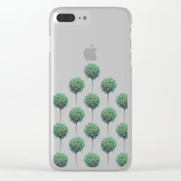 green pompons Clear iPhone Case