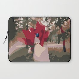 Autumn red leaves bouquet in hand with a ring Laptop Sleeve