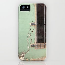 Cracked concrete wall at Battery Mendell on Fort Barry iPhone Case