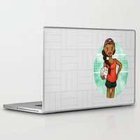 volleyball Laptop & iPad Skins featuring Volleyball Girl by Lunar Fox