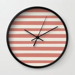 Pirate Stripes Wall Clock