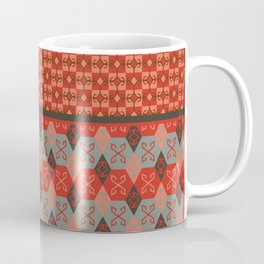 Bohemian Kilim Pattern Mosaic Coffee Mug