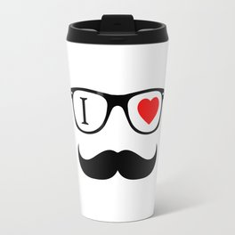 I Love Hipster Travel Mug