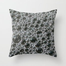 Bubbles Frozen in Time. Photograph Throw Pillow