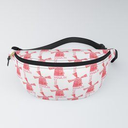 Addicted To Paris   Parisian Cabaret   Red and Pink Watercolor Fanny Pack