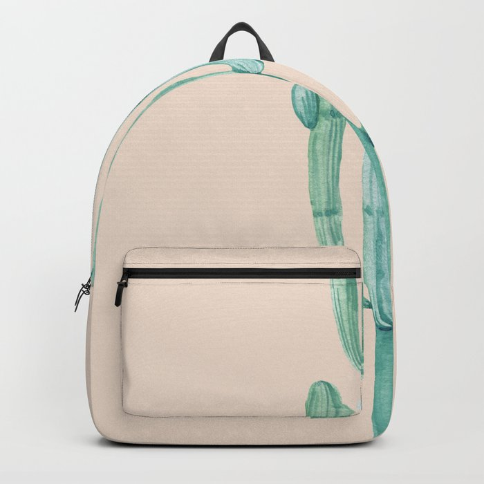 Solo Cactus Mint on Coral Pink Backpack