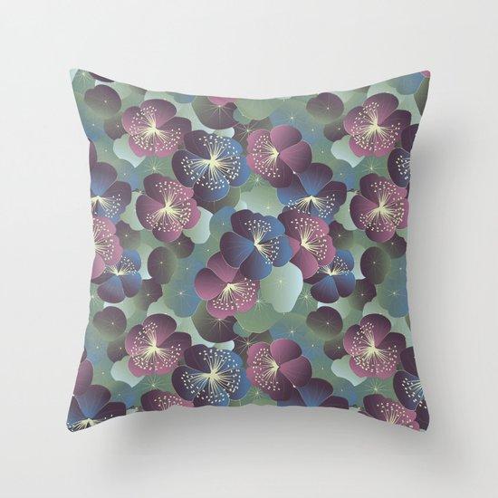Dreamy Nasturtia Throw Pillow