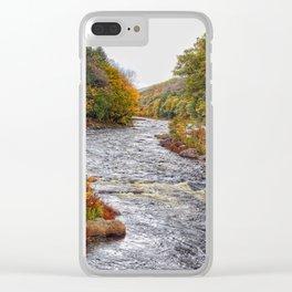 Autumn River Clear iPhone Case