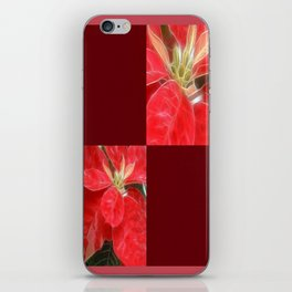 Mottled Red Poinsettia 1 Ephemeral Blank Q10F0 iPhone Skin