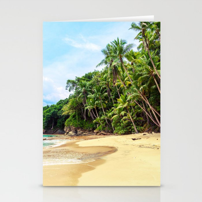 Tropical Beach - Landscape Nature Photography Stationery Cards