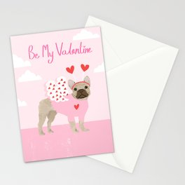 French Bulldog love bug cute valentines day dog breed gifts for dog lover frenchie Stationery Cards