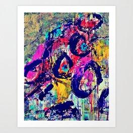 Collage Cow Art Print