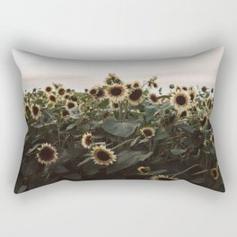 In The Sunflower Field Rectangular Pillow