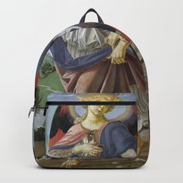 Andrea del Verrocchio - Tobias and the Angel Backpack