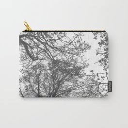Grey Trees Abstract Carry-All Pouch