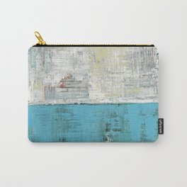 Fairbanks Abstract Light Blue White Carry-All Pouch