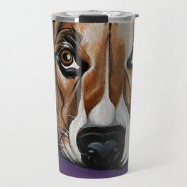 Dog, acrylic on canvas Travel Mug