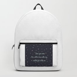 Love and the stars Backpack