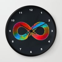 infinite Wall Clocks featuring Infinite by deff