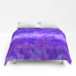 Dappled Blue Violet Abstract Comforters