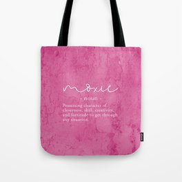 Moxie Definition - Pink Texture Wall Tote Bag