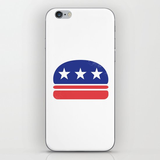 I Vote for Burger! iPhone Skin