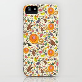 Cute Jungle and Monkeys iPhone Case
