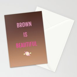 Brown Is Beautiful Stationery Cards