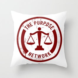The Purpose Network Throw Pillow