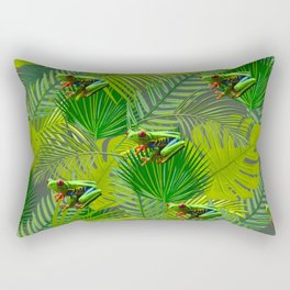 Frog Forest Rectangular Pillow
