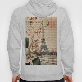 vintage chandelier white rose music notes Paris eiffel tower Hoody