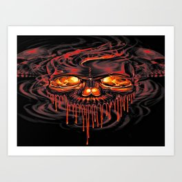 Bloody Red Skeletons Art Print