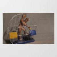 barbie Area & Throw Rugs featuring Barbie & Ken by Francesco Mestria