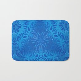 Floral Blue Bath Mat