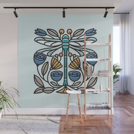 Dragonfly tile Wall Mural