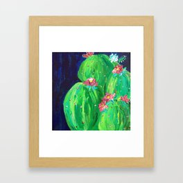 Flowering Prickly Pear Cacus Framed Art Print