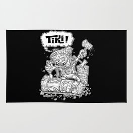 Tiki Carver... Rat Fink Monster Chisler! Rug