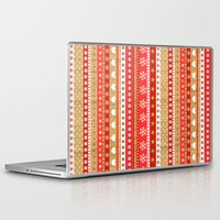 nordic Laptop & iPad Skins featuring Nordic Stripe by Faye Maguire Designs