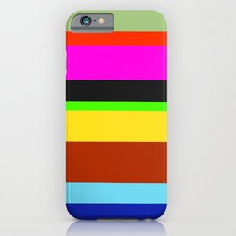Colorful Canvas iPhone Case
