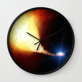 Explosive supernova Wall Clock