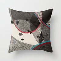 dance Throw Pillows featuring Dance by Julia Tomova