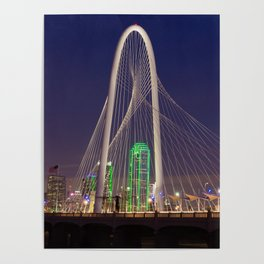 Arched Pathway to Dallas in Lights Poster
