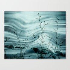 théâtre d'ombres en Blanc Canvas Print