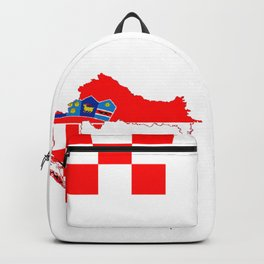 Croatia map/flag Backpack