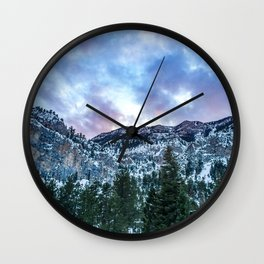 Snowcap Mountain | Sunset at Mount Charleston Mary Jane Falls Road National Forest Road Trip Sky Wall Clock