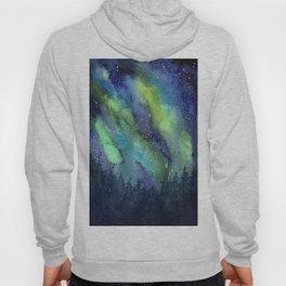 Galaxy Aurora Northern Lights Nebula Space Watercolor Hoody