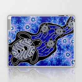 Baby Sea Turtles - Aboriginal Art Laptop & iPad Skin
