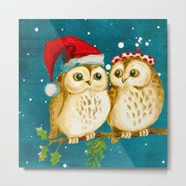 Owl Be Wishing You A Merry Christmas Metal Print