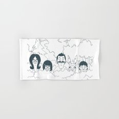 Belchers behind bushes Hand & Bath Towel
