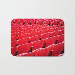 Red Stadium Seats Bath Mat